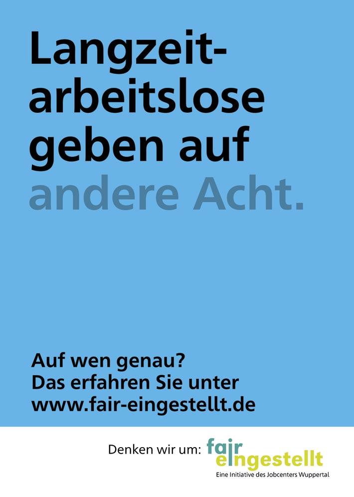 """Wuppertal – Jobcenter – """"Fair eingestellt"""""""