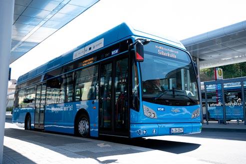 Wasserstoffbusse im Linienbetrieb